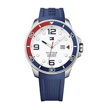 Tommy Hilfiger Keith White Dial Blue Silicone Mens Watch 1791155