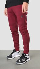NIKE TECH FLEECE PANTS TAPERED JOGGERS TEAM RED BLACK HEATHER 545343 677 sz L