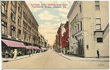 11th Avenue Looking East from 14th Street in Altoona PA Postcard 1913