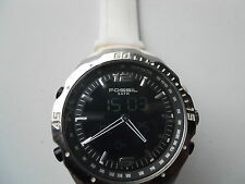 FOSSIL MEN'S WHITE SILICONE/RUBBER BAND ANALOG WATCH.BQ9397.QUARTZ,BATTERY.