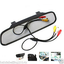 Car Rear View Parking HD LCD Video Digital Color Mirror Monitor Display NTSC/PAL