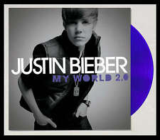 JUSTIN BIEBER My World 2.0 LP on PURPLE COLOR VINYL New STILL SEALED