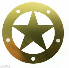 "Cigar Box Guitar Parts: Beautiful Brass ""Lone Star"" Sound Hole Cover - 31-20-01"