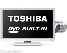 "Toshiba NEW 24"" Multi System LED TV DVD Combo! PAL NTSC 110 220 Volt 110V 220V"