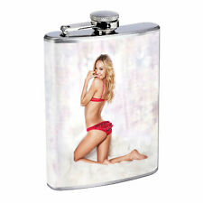 Waitress Pin Up Girls D8 Flask 8oz Stainless Steel Hip Drinking Whiskey Costume