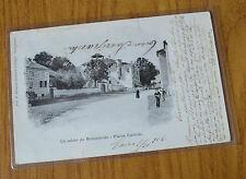 CARTOLINA TORINO MONASTEROLO PIAZZA CASTELLO VIAGGIATA 1906 SUBALPINA PP