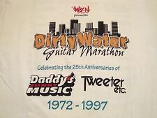 Vintage Dirty Water Guitar Marathon Music 1997 90's Concert Boston T Shirt XL