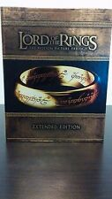 LORD OF THE RINGS TRILOGY Complete Extended Edition Blu-ray Boxset Like New