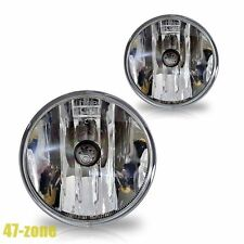 For Chevrolet Ford GMC Pontiac Clear Lens Chrome Housing Fog Lights Lamps Kit