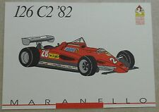FERRARI Galleria 1993 126c2 f1 1982 Scheda Card brochure prospetto book libro Press