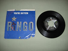 45 rpm Record YOU'RE SIXTEEN Ringo Starr 1973 with Original Sleeve