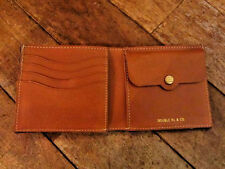 POLO RALPH LAUREN DOUBLE RL RRL INDIGO BLUE CANVAS BROWN LEATHER WALLET $195+