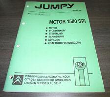 Werkstatthandbuch Citroen Jumpy Motor 1580 SPI Steuerung Schmierung Kühlung 1996