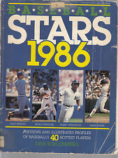 Baseball Stars of 1986 Book The top 40 players by Dan Schlossberg