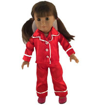 hot fashion cute clothes red pajamas for 18inch American girl doll party b231