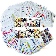 100 sheets Mixed Flowers Cartoon Nail Art Water Transfer Stickers
