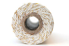 12 Ply Metallic Gold Bakers Twine 100 yard spool 12 Ply Thick Cotton String
