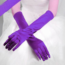 Sexy Women Satin Long Gloves Wedding Bridal Evening Dance Party Gloves 1Pair