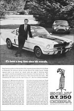 24x36 1966 Ford Mustang Shelby GT 350 COBRA Ad Poster Art '66 Carroll 289 427