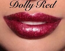High Shine, Long Lasting, Glitter Lipstick- DOLLY RED, Glitter Lips