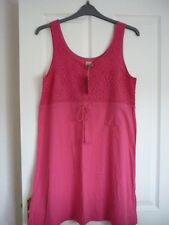 Mantaray rose chaud crochet trim maillot bain de soleil. uk 12, eur 38-40, us 8. bnwt