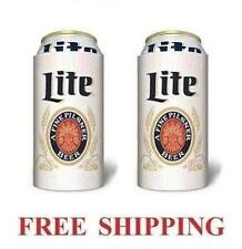 MILLER LITE THROWBACK 2 BEER CAN COOLERS KOOZIE COOLIE 16oz HUGGIE COOZIE NEW