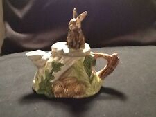 Ceramic Teapot With Rabbit On Top Small Teapot