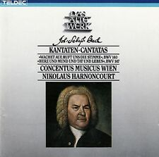 J.S. BACH: KANTATEN BWV 140 & 147 / CONCENTUS MUSICUS WIEN - HARNONCOURT / CD