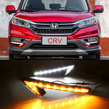 2x LED Daytime Running Fog Light Lamp DRL w Signal For HONDA CR-V CRV 2015-2016