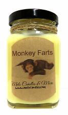 6oz Monkey Farts - Victorian Square Glass Jar Soy Candle Beautiful Candle