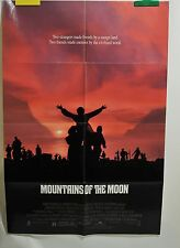 "Mountains of the Moon Poster Movie One Sheet Folded 1990 40"" x 27"""