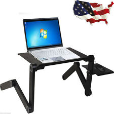Foldable Laptop Notebook PC Desk Table Adjustable Vented Stand Bed Tray