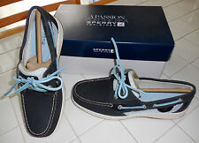 (NIB) Womens Sperry Top-Sider Bluefish 2-Eye Navy/Open Mesh Shoes, Size 8.5M