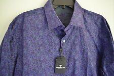 BUGATCHI UOMO MEN'S ORCHID PURPLE CLASSIC FIT DRESS SHIRT SIZE XL NWT$199