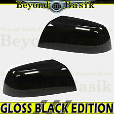 2007-2017 TOYOTA TUNDRA GLOSS BLACK Mirror Covers Overlays Non Towing Top Half