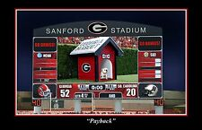 GEORGIA BULLDOGS FOOTBALL VS SOUTH CAROLINA GAMECOCKS S/N PRINT