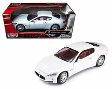 New MOTOR MAX 1:18 MASERATI GRAN TURISMO Diecast Car Model White