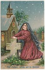 """""""Our Father Which Art in Heaven"""" Lord's Prayer Religious Postcard"""
