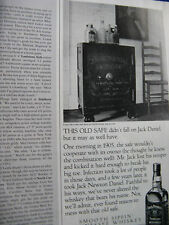 """1992 Jack Daniel's Ad-1/2 page Ad-8.5 x 10.5""""-The Old Safe"""