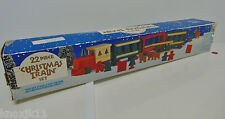 NEW 23 PC WOODEN CHRISTMAS TRAIN SET Wood Engine Cars Reindeer Trees Houses NIB