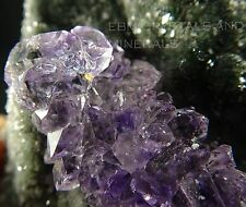 AMETHYST CRYSTAL CLUSTER ON MATRIX #85 includes FREE DISPLAY BASE