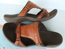 Merrell GLADE Brown Leather Slide Slip On Sandals/ Casual Shoes ~ Womens Size 10