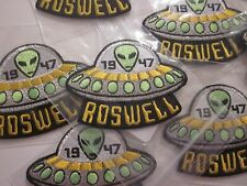"ROSWELL 1947 UFO ALIEN IRON ON PATCH AREA 51 SOUVENIR COLLECTIBLE ""1"" PATCH #37"