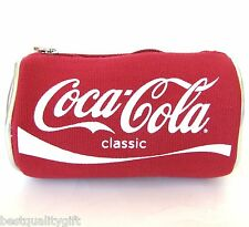 NEW RED CANVAS+SILVER VINYL CLASSIC COCA-COLA SODA CAN BAG+POUCH+MULTI CASE