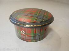 Antique Mauchline Tartan ware Thread Box , Bobbin Box    ref2/rx1016