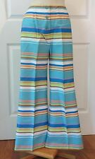 Vintage 70s Mod Pants Bell Bottoms Stripes Dead Stock sz 7