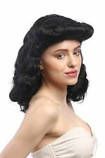 Wig Ladies Carnival Black Great Southern States Rockabilly Southern Belle 1950's