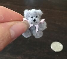 Dollhouse Tiny Handmade Cute Teddy Bear, Posable For Dolls Houses 2 1/2 Cm