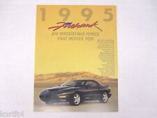 1995 Pontiac SLP Firehawk Firebird Sales Brochure Folder
