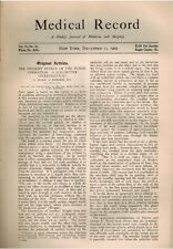 1909 Medicine Surgery Tonsillectomy Tonsils, Yellow Fever Cuba, Gonorrhea, Wound